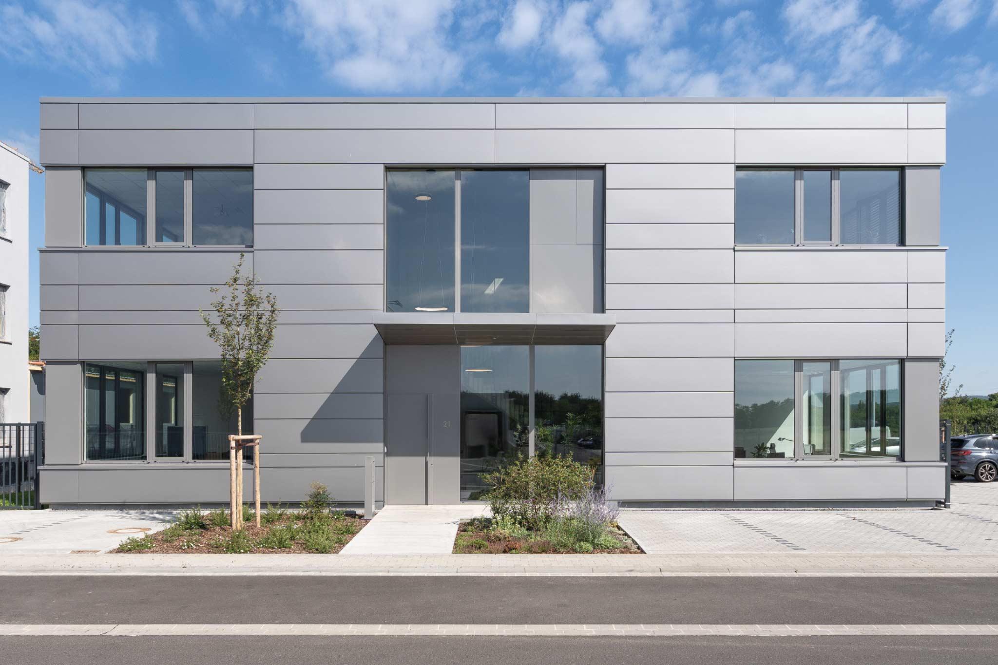 Eingangsbereich Stockstadt Industrie-Architektur, Seitz
